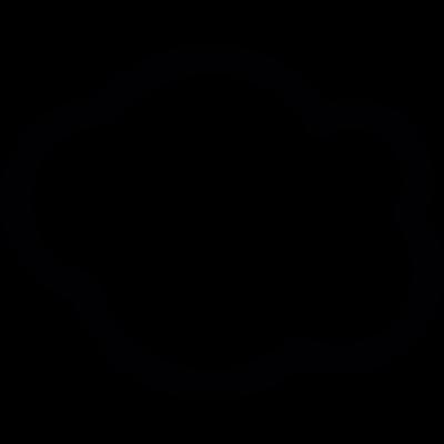 Fluff cloud outline vector logo