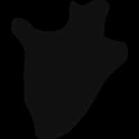Burundi country map silhouette vector
