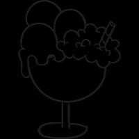 Ice cream cup doodle vector