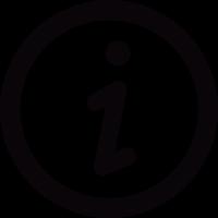 Info button vector