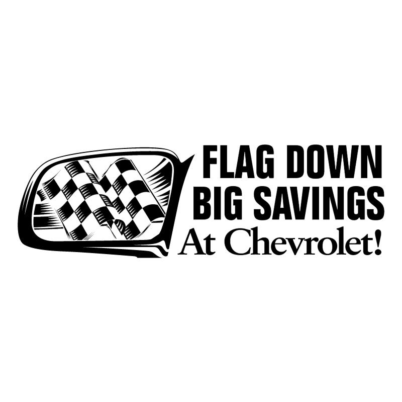 Chevrolet Flag Down Big Savings vector logo