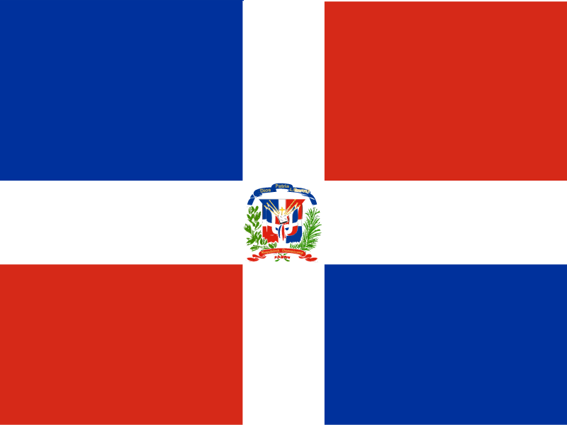 Flag of Dominican Republic vector