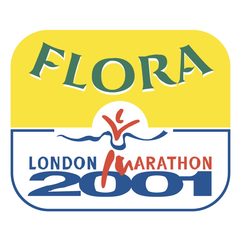 Flora London Marathon vector