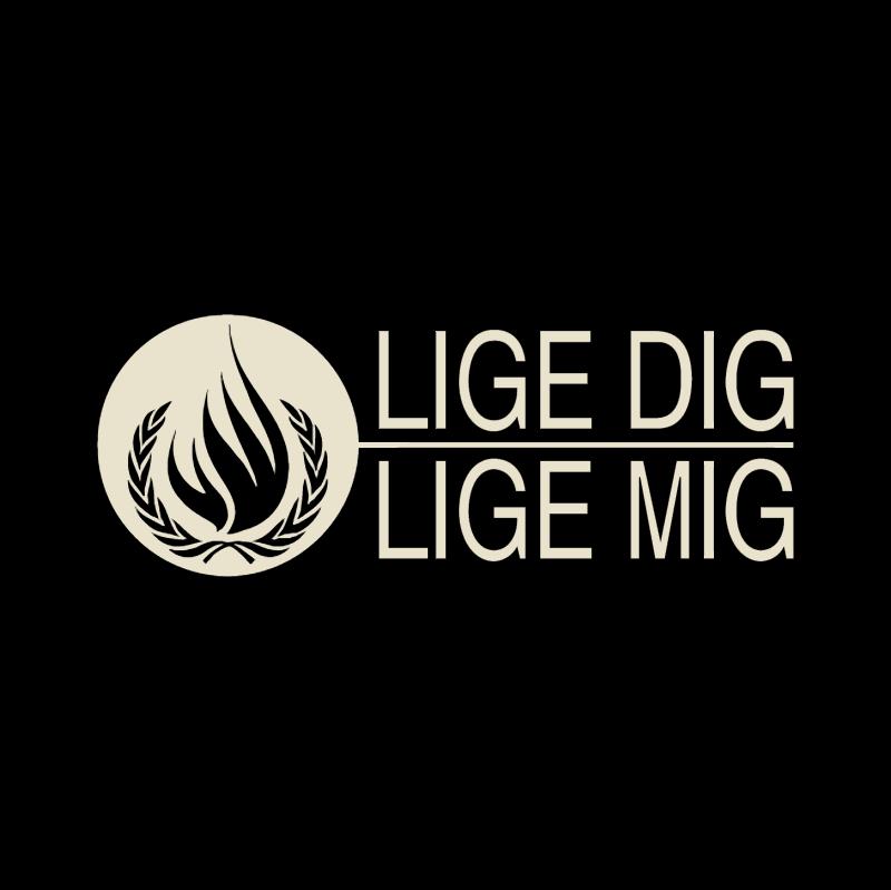 Lige DIG vector logo