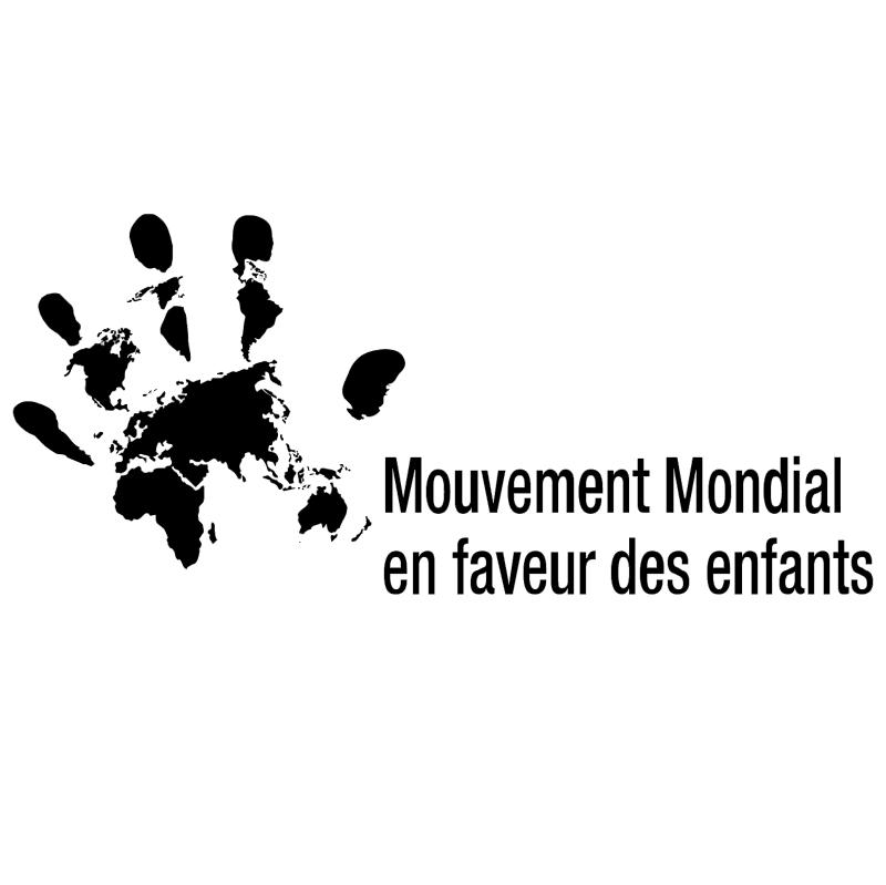 Mouvement de Mondial en faveur des enfants vector