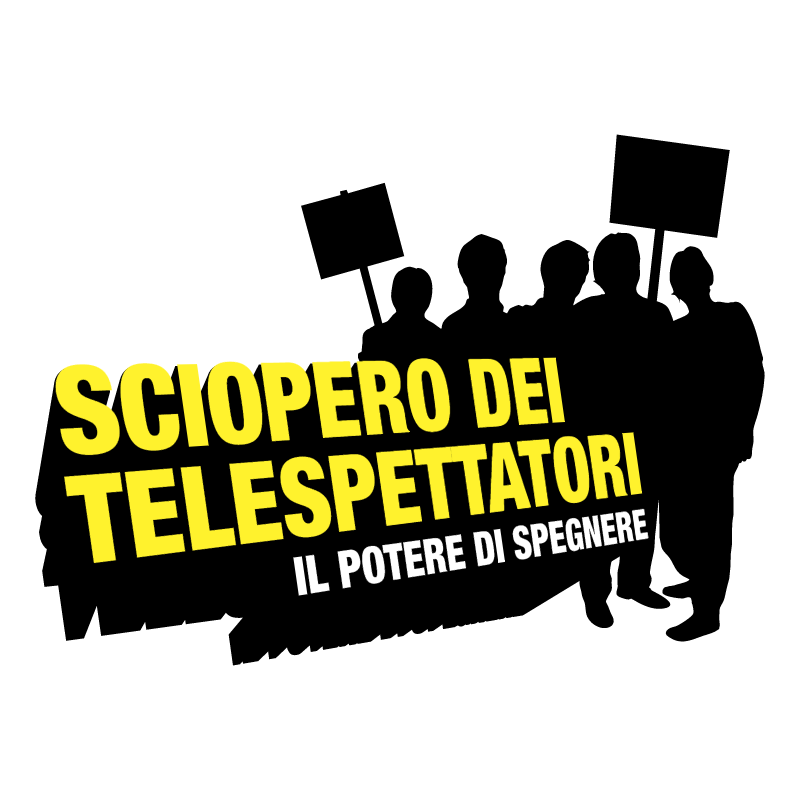 Sciopero dei Telespettatori vector