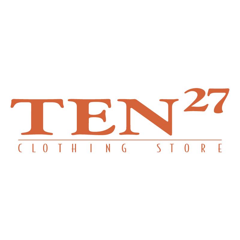 TEN27 Clothing Stores vector