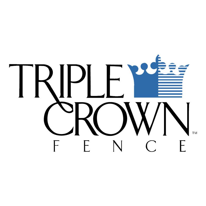 Triple Crown Fence vector logo