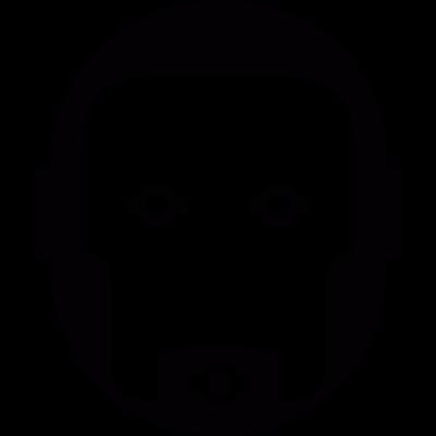 Robot face vector logo