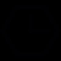 Hexagon clock vector