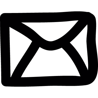 Envelope doodle vector logo