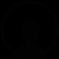 Circular avatar symbol vector