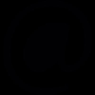 Arroba symbol vector logo