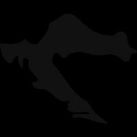 Croatia black country map shape vector