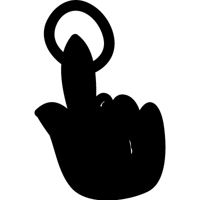 Pressing button vector logo