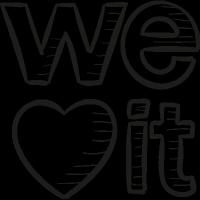 Weheartit Draw Logo vector
