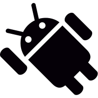 Android with Left Arm Up vector
