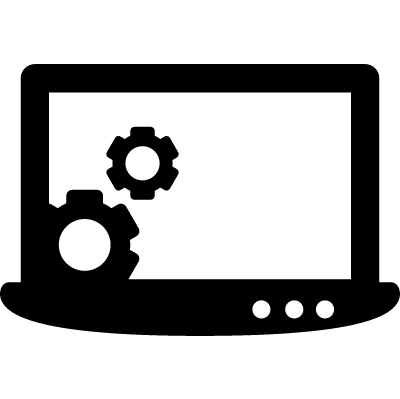 Laptop Settings vector logo