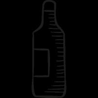 Big Wine Bottle vector