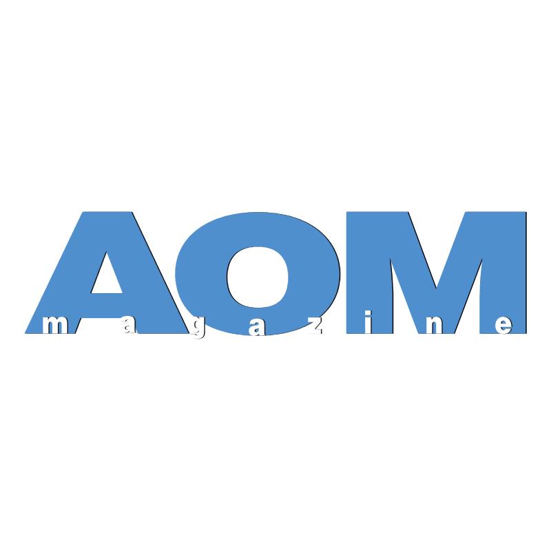 AOM magazine vector