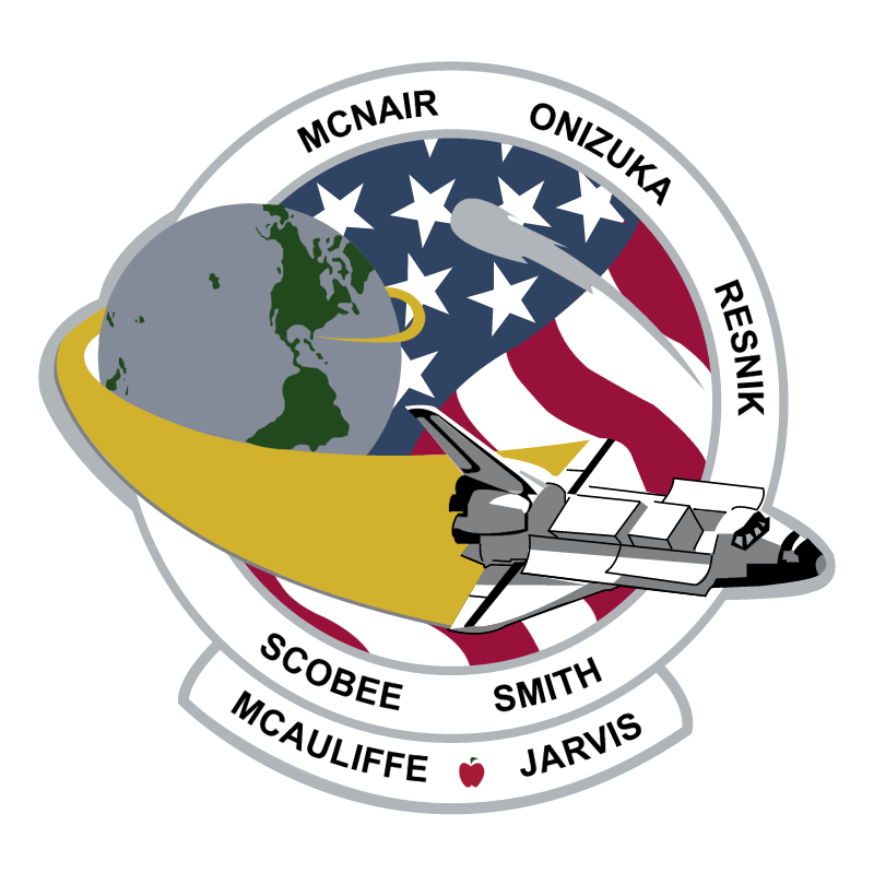 Challenger mission patch vector