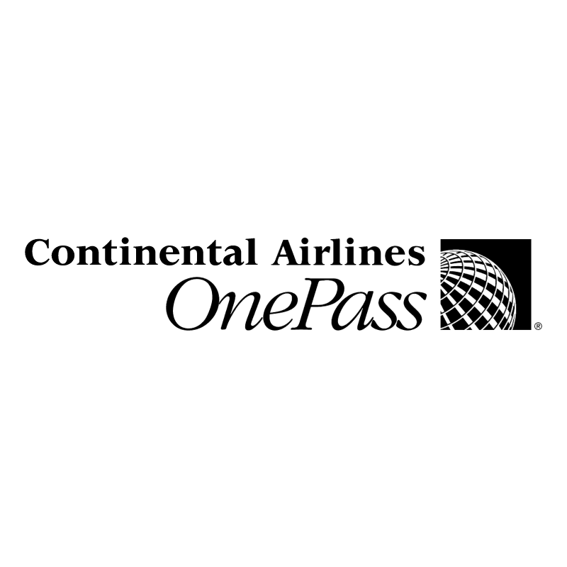 Continental Airlines OnePass vector
