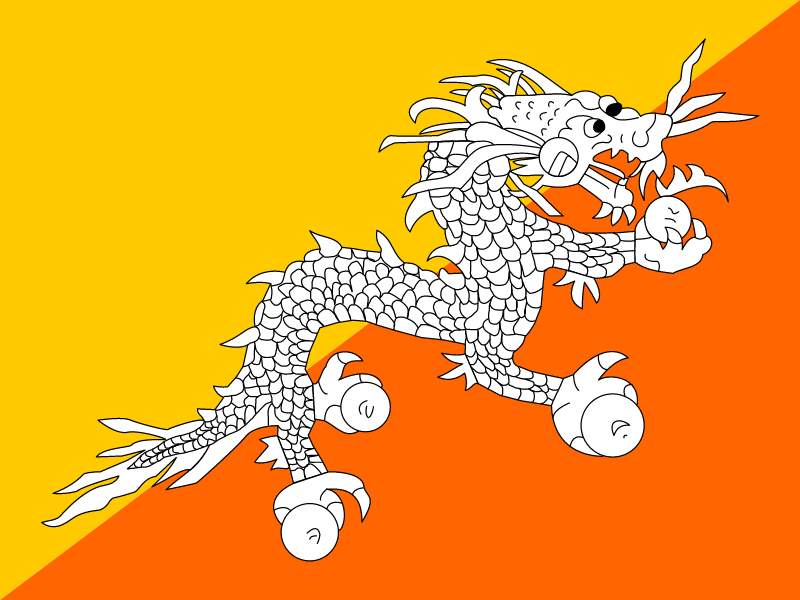 Flag of Bhutan vector logo