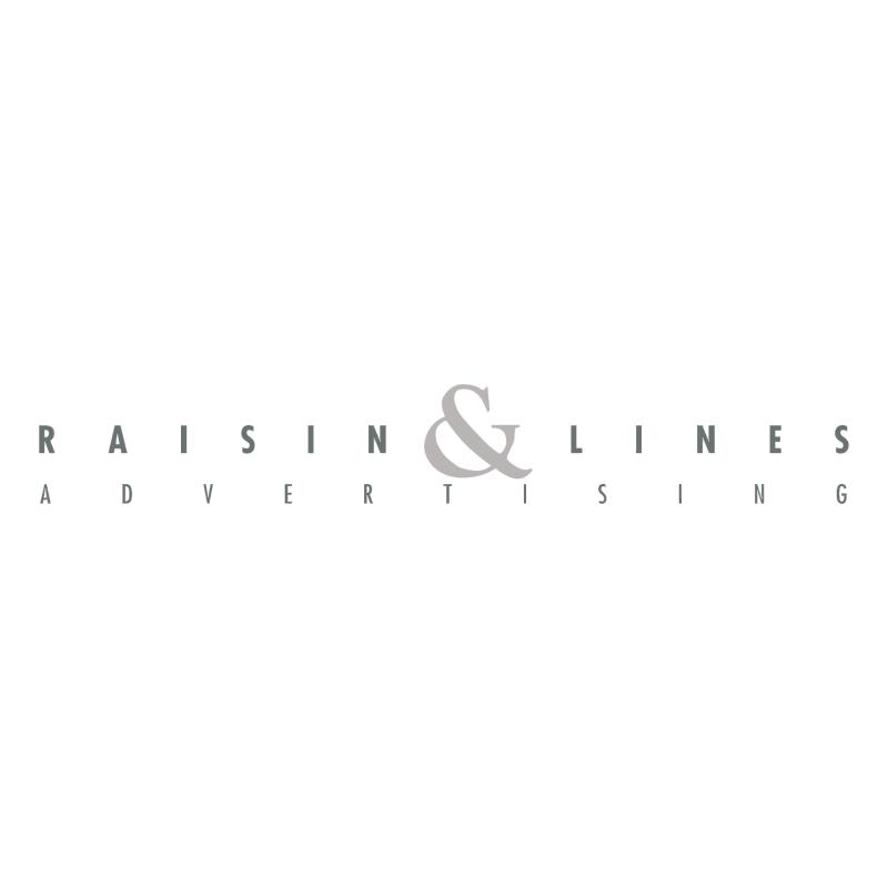 Raisin & Lines Advertising vector logo