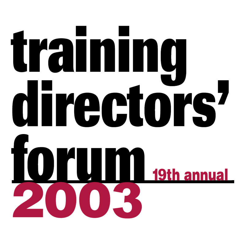 Training Directors' Forum 2003 vector logo