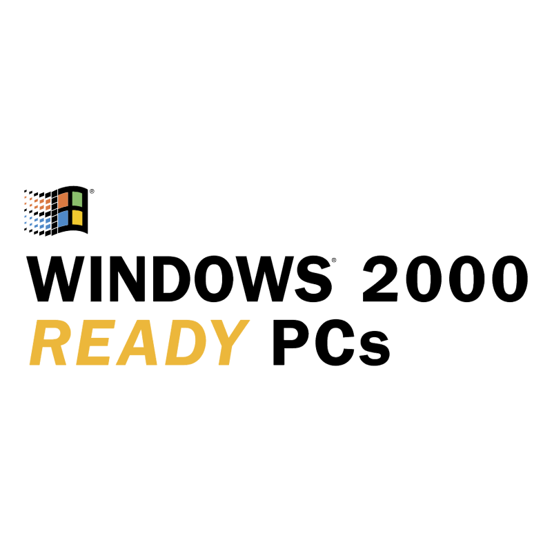 Windows 2000 Ready PCs vector