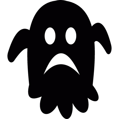 Sad ghost vector logo