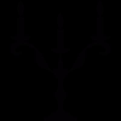 Candlestick vector logo
