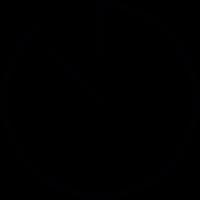 Light clock otline vector