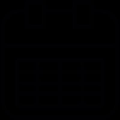 Calendar page vector logo