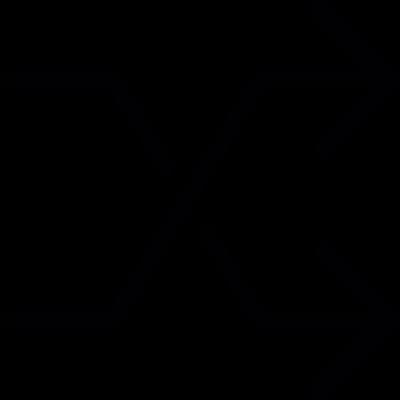 Shuffle arrows symbol vector logo