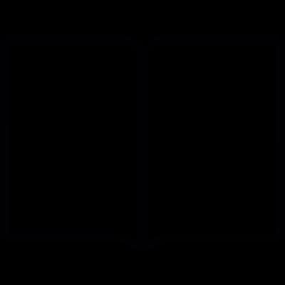 Book opened, IOS 7 interface symbol vector logo