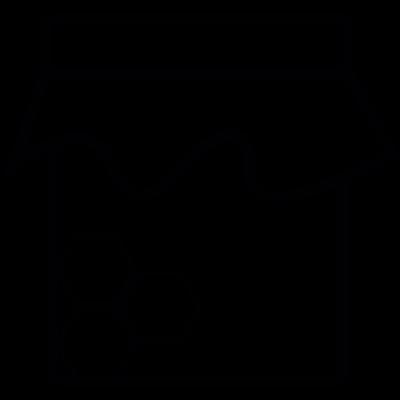 Honey bottle, IOS 7 interface symbol vector logo