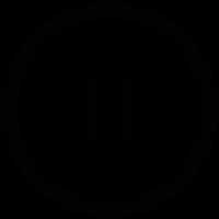 Pause symbol in circle vector