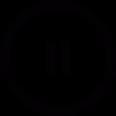 Pause symbol in circle vector logo