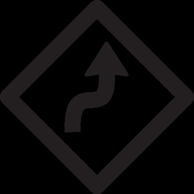 Curves ahead vector logo