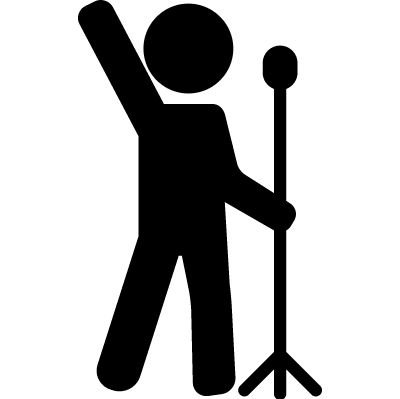 Man Singing vector logo