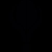 Hot Air ballon silhouette vector