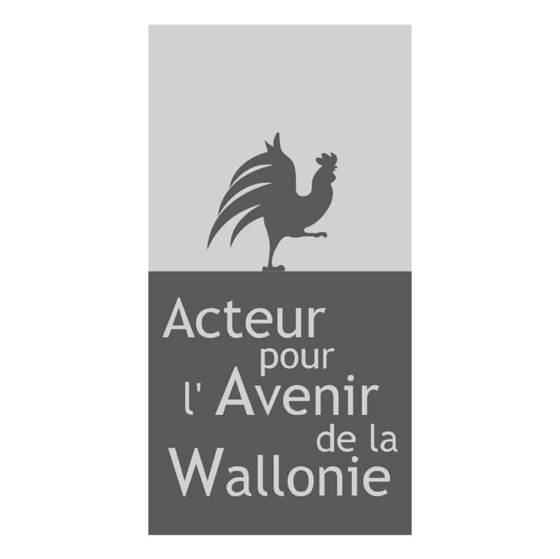 Acteur pour l'Avenir de la Wallone vector