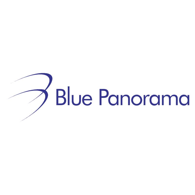 Blue Panorama vector logo