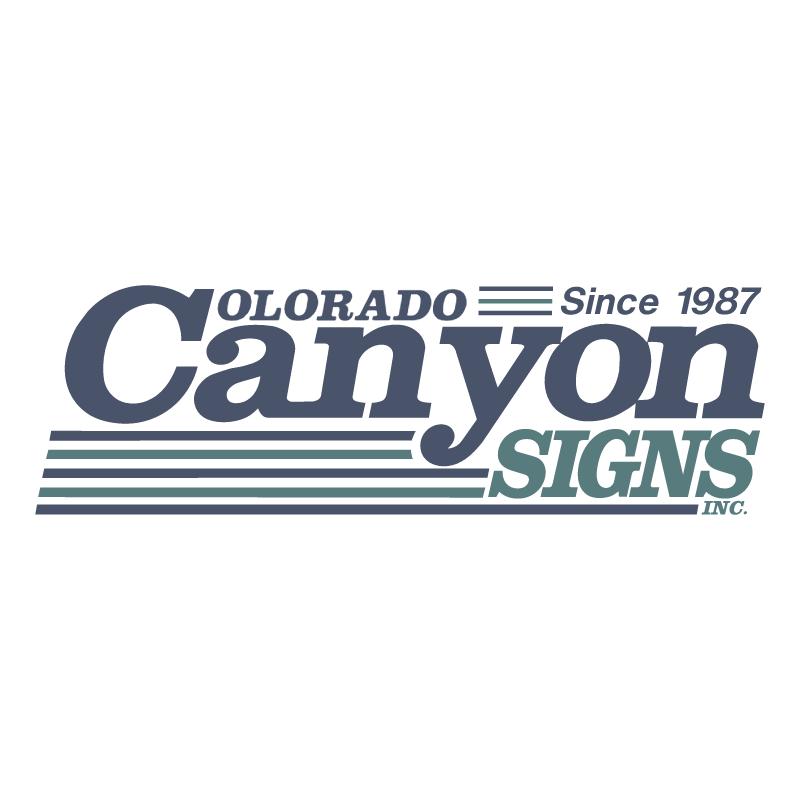 Colorado Canyon Signs, Inc vector