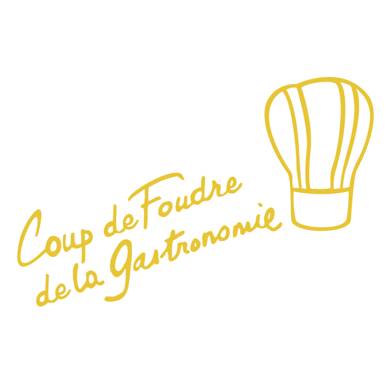 Coup De Foudre de la Gastronomie vector