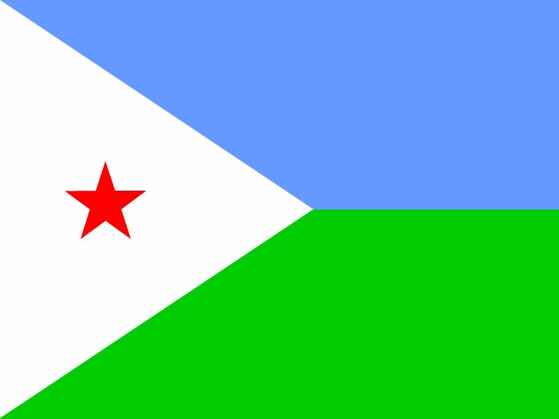 Flag of Djibouti vector logo