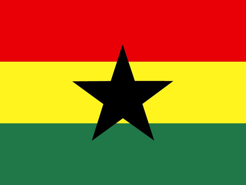 Flag of Ghana vector