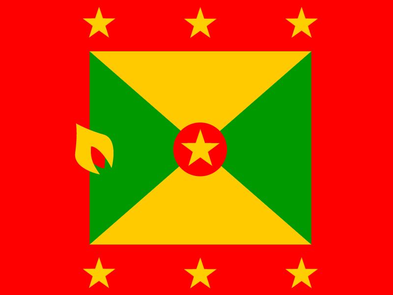 Flag of Grenada vector