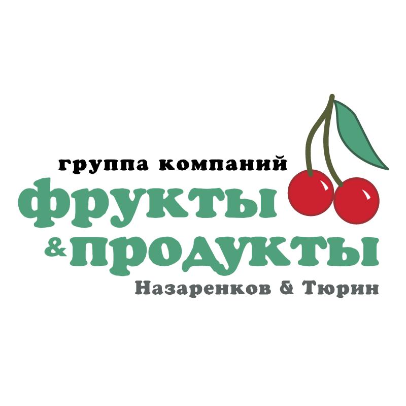 Frukty & Producty vector logo